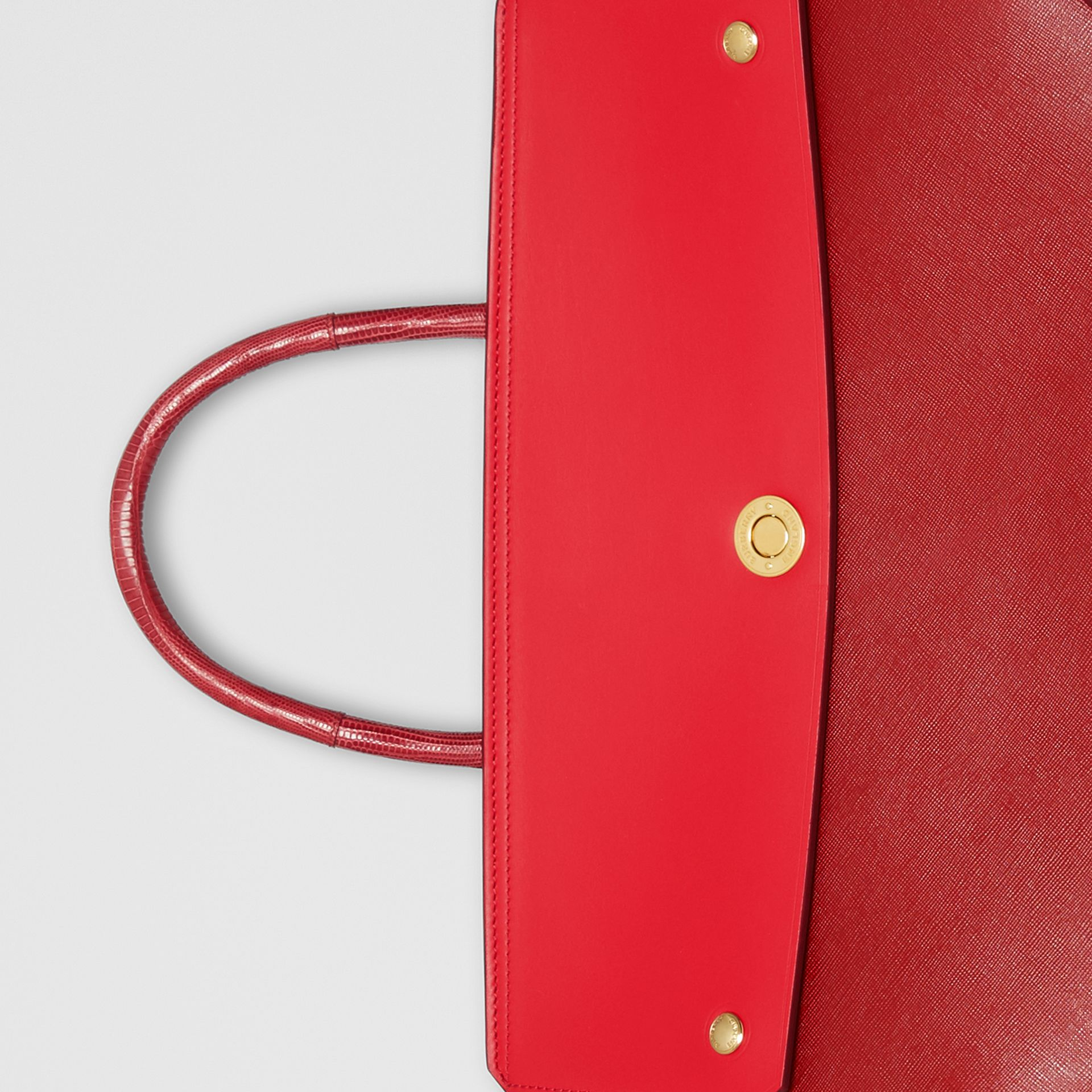 Small Leather and Suede Elizabeth Bag in Bright Military Red - Women | Burberry - gallery image 1