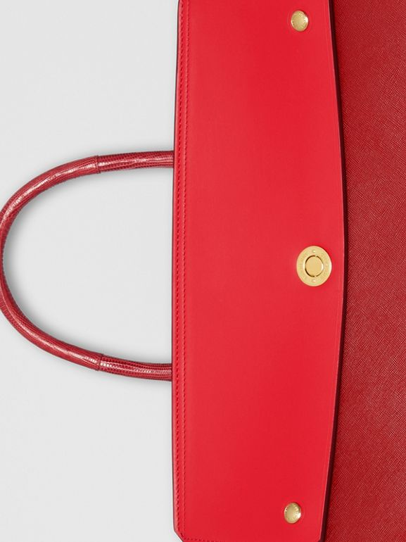 Small Leather and Suede Elizabeth Bag in Bright Military Red - Women | Burberry Singapore - cell image 1