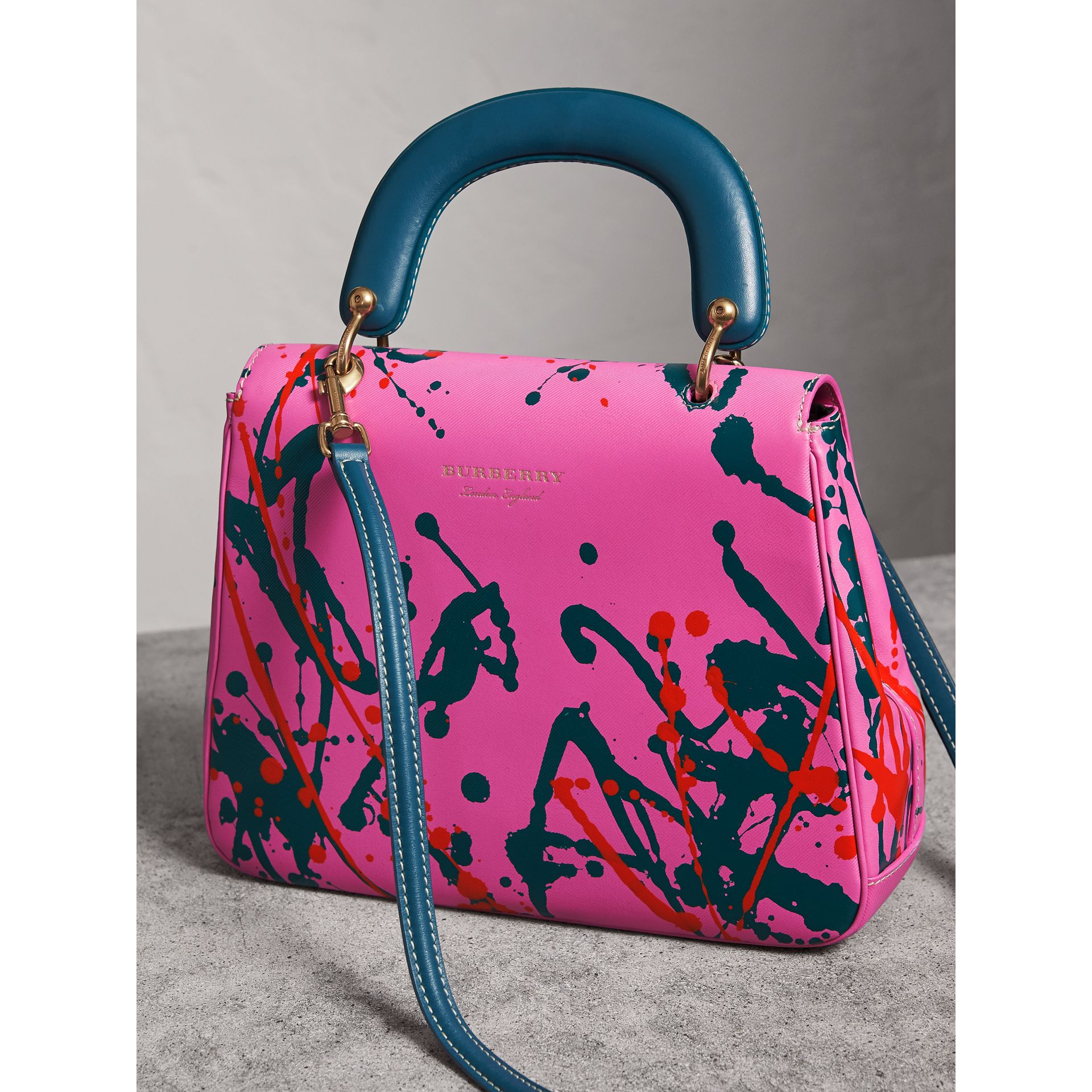 The Medium DK88 Splash Top Handle Bag in Rose Pink - Women | Burberry - gallery image 5