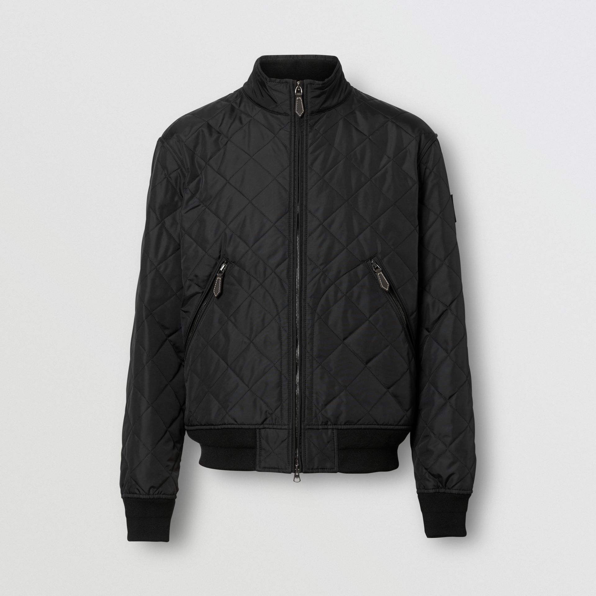 Diamond Quilted Thermoregulated Jacket in Black - Men | Burberry - gallery image 3