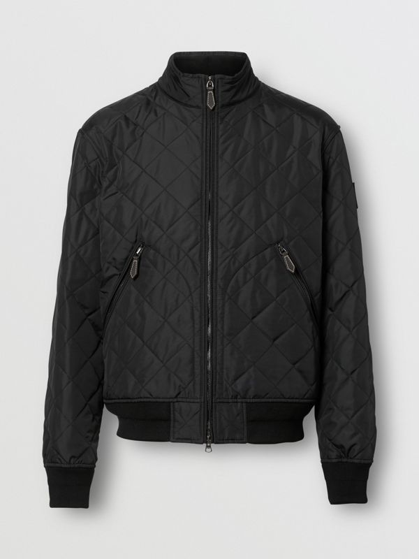 Diamond Quilted Thermoregulated Jacket in Black - Men | Burberry United States - cell image 3