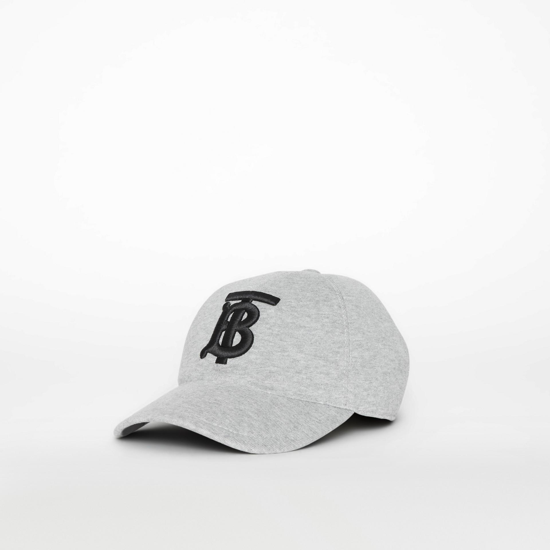 Бейсболка с монограммой Burberry (Светло-серый Меланж) | Burberry - изображение 3