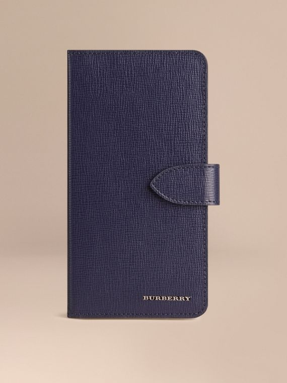 Custodia a libro in pelle London per iPhone 6 Plus Navy Scuro