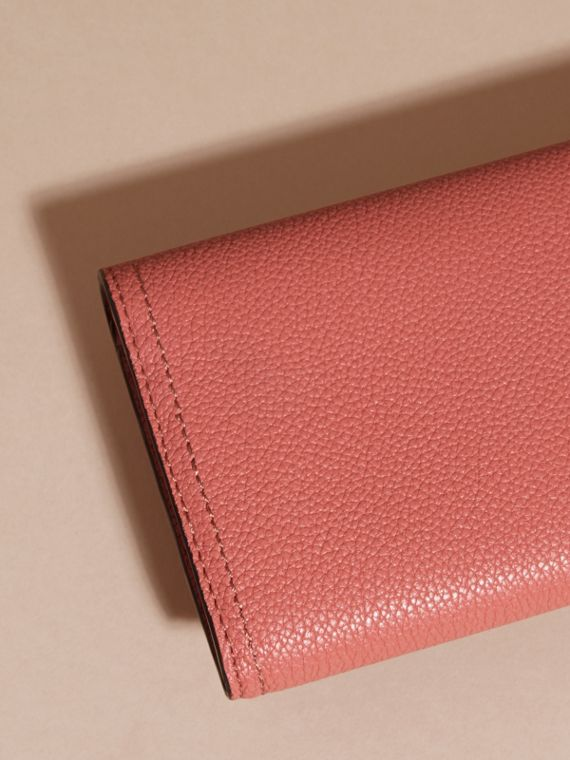 Copper pink Textured Leather Continental Wallet Copper Pink - cell image 3