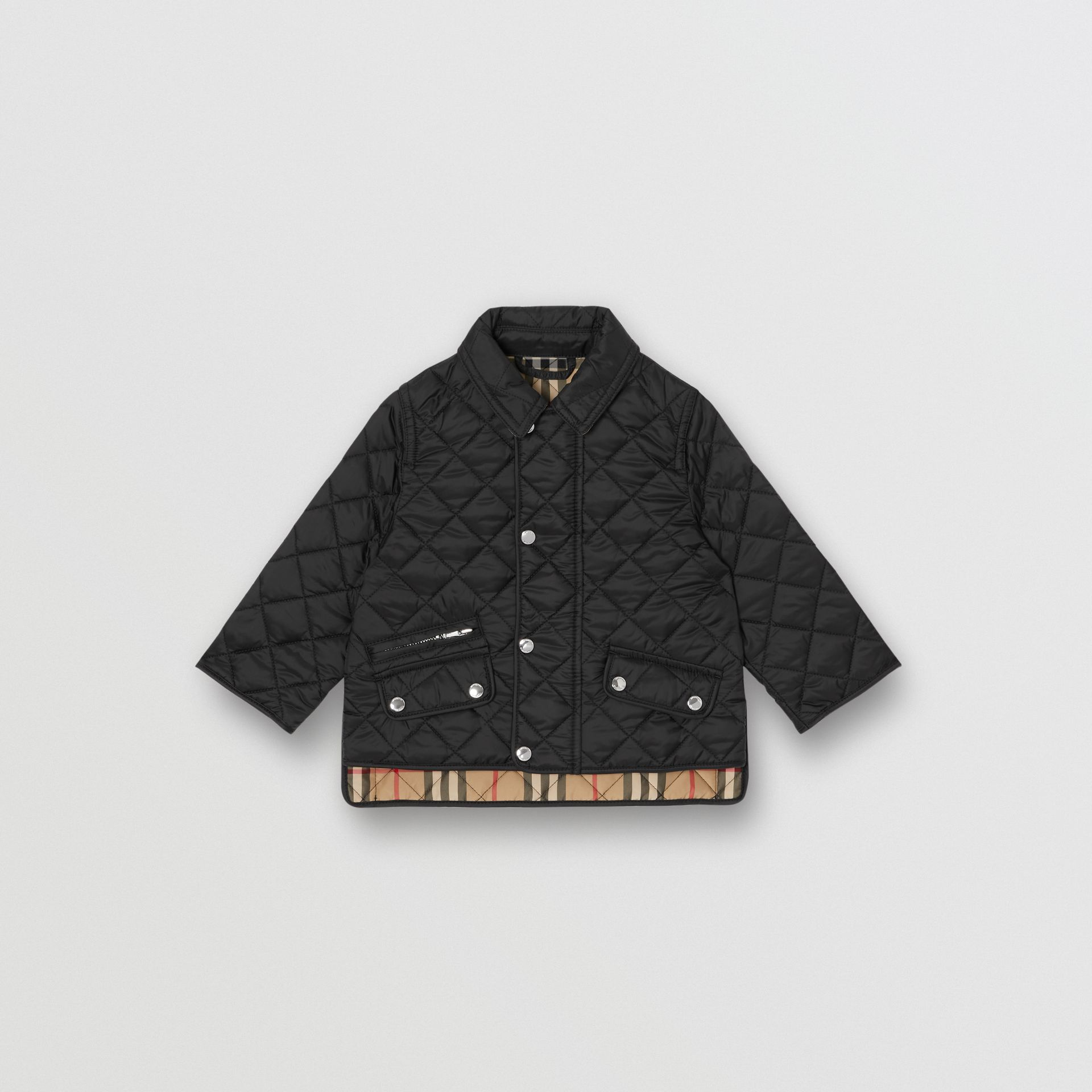 Lightweight Diamond Quilted Jacket in Black - Children | Burberry - gallery image 0