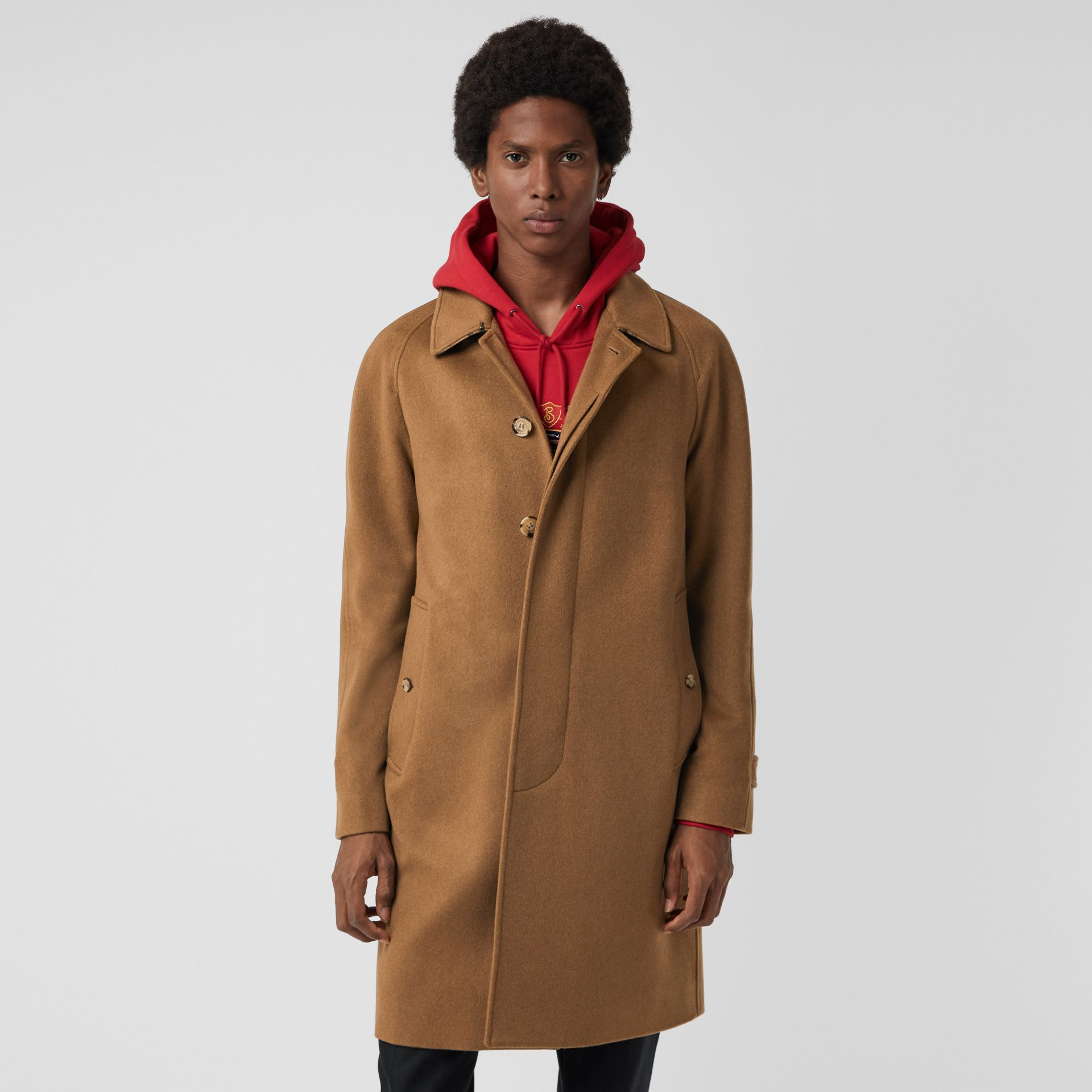 Cashmere Car Coat in Dark Camel - Men | Burberry - gallery image 4