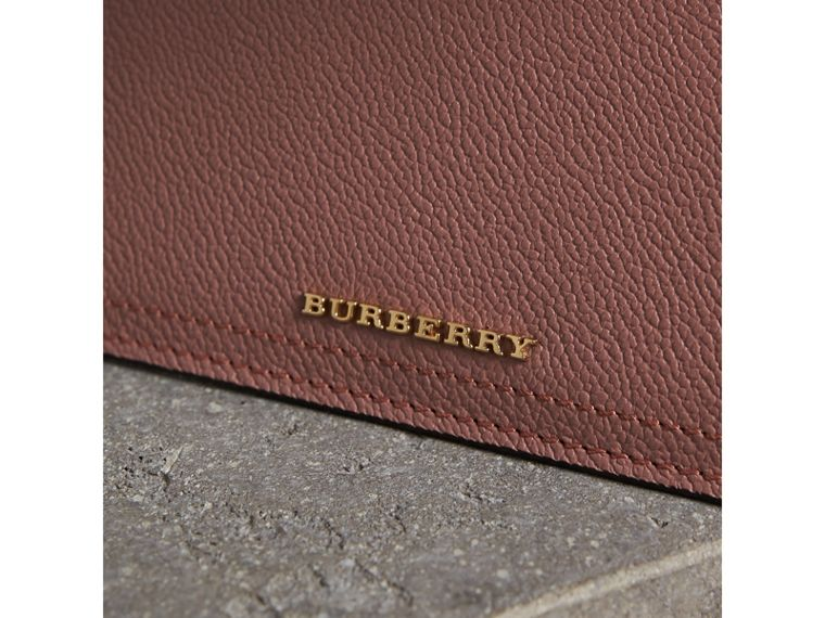 Leather Continental Wallet with Removable Coin Case in Dusty Pink - Women | Burberry Hong Kong - cell image 1