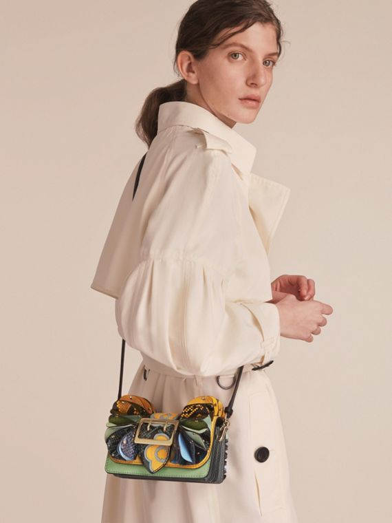 The Ruffle Buckle Bag in Snakeskin and Calf Leather - cell image 2