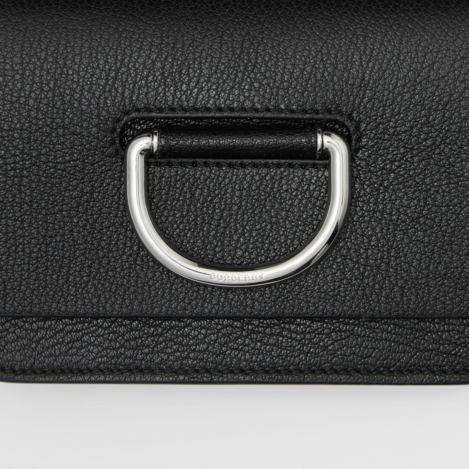 The Mini Leather D-ring Bag in Black - Women | Burberry United States - gallery image 1