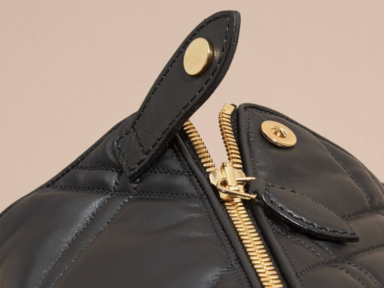 Buckle Detail Check Quilted Leather Boots - Women | Burberry Australia - cell image 1