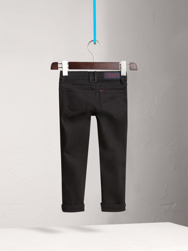 Jean skinny en denim extensible (Noir) - Fille | Burberry Canada - cell image 3