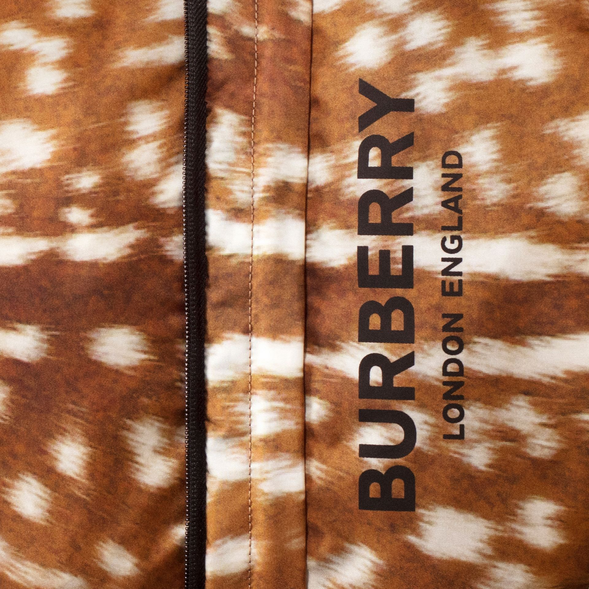Deer Print Convertible Bum Bag in Tan/white | Burberry - gallery image 1