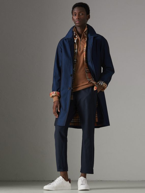 The Camden Car Coat in Bright Regency Blue