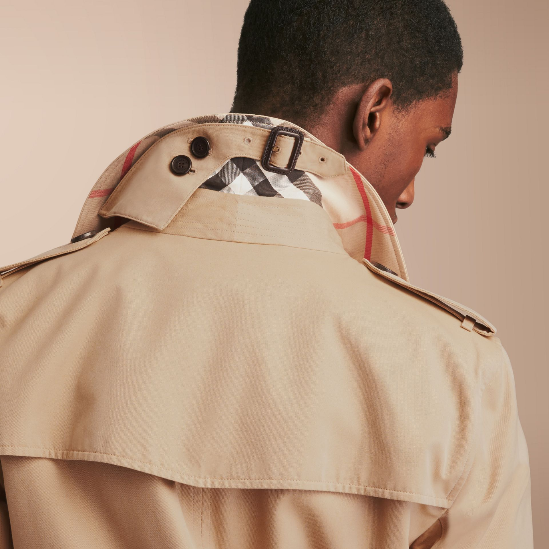 The Kensington – Mid-Length Heritage Trench Coat Honey - gallery image 6