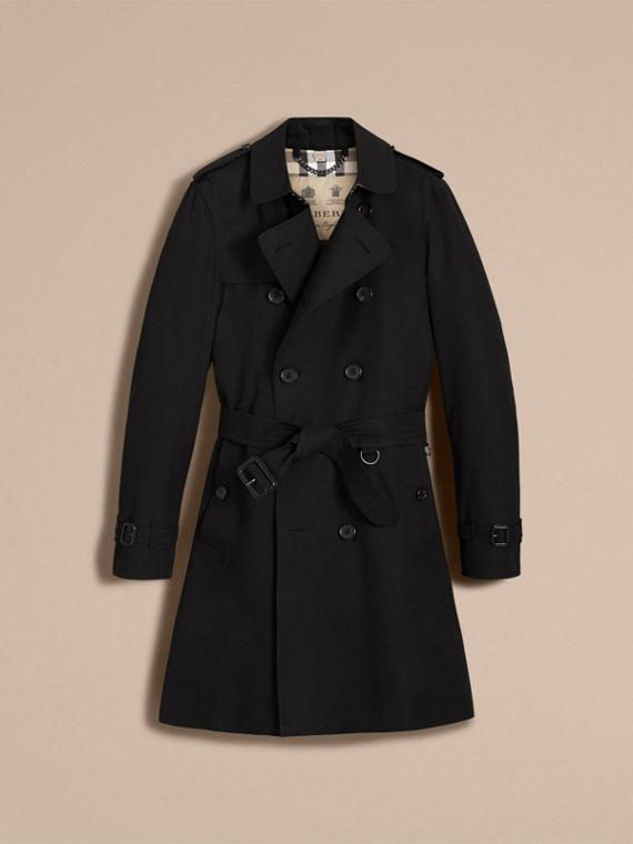 The Kensington – Long Heritage Trench Coat in Black - cell image 3