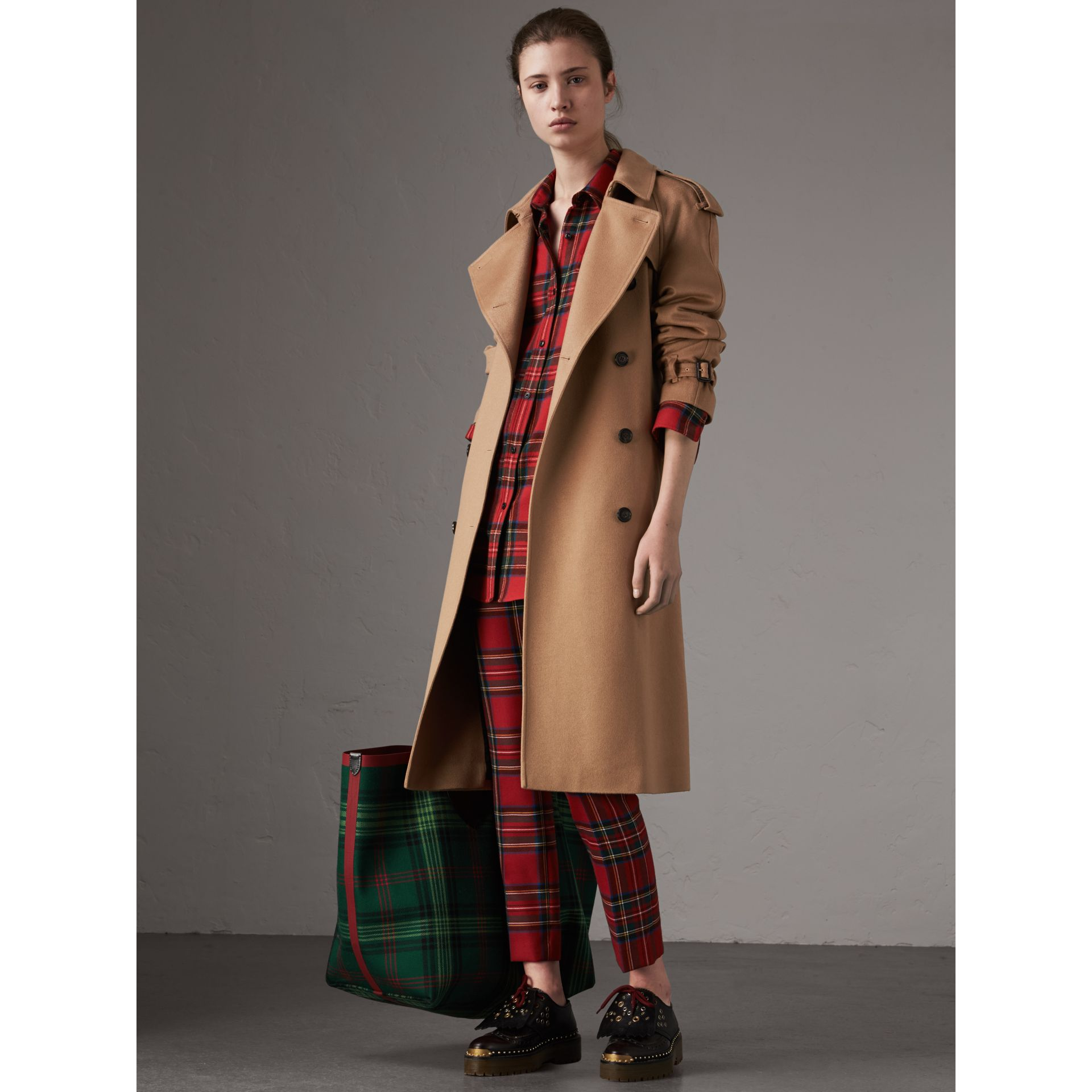 Cashmere Trench Coat in Camel - Women | Burberry - gallery image 6
