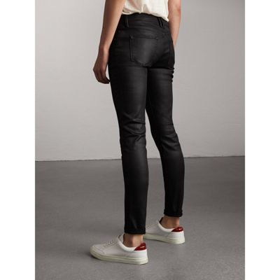 Womens Wax Coated Jeans