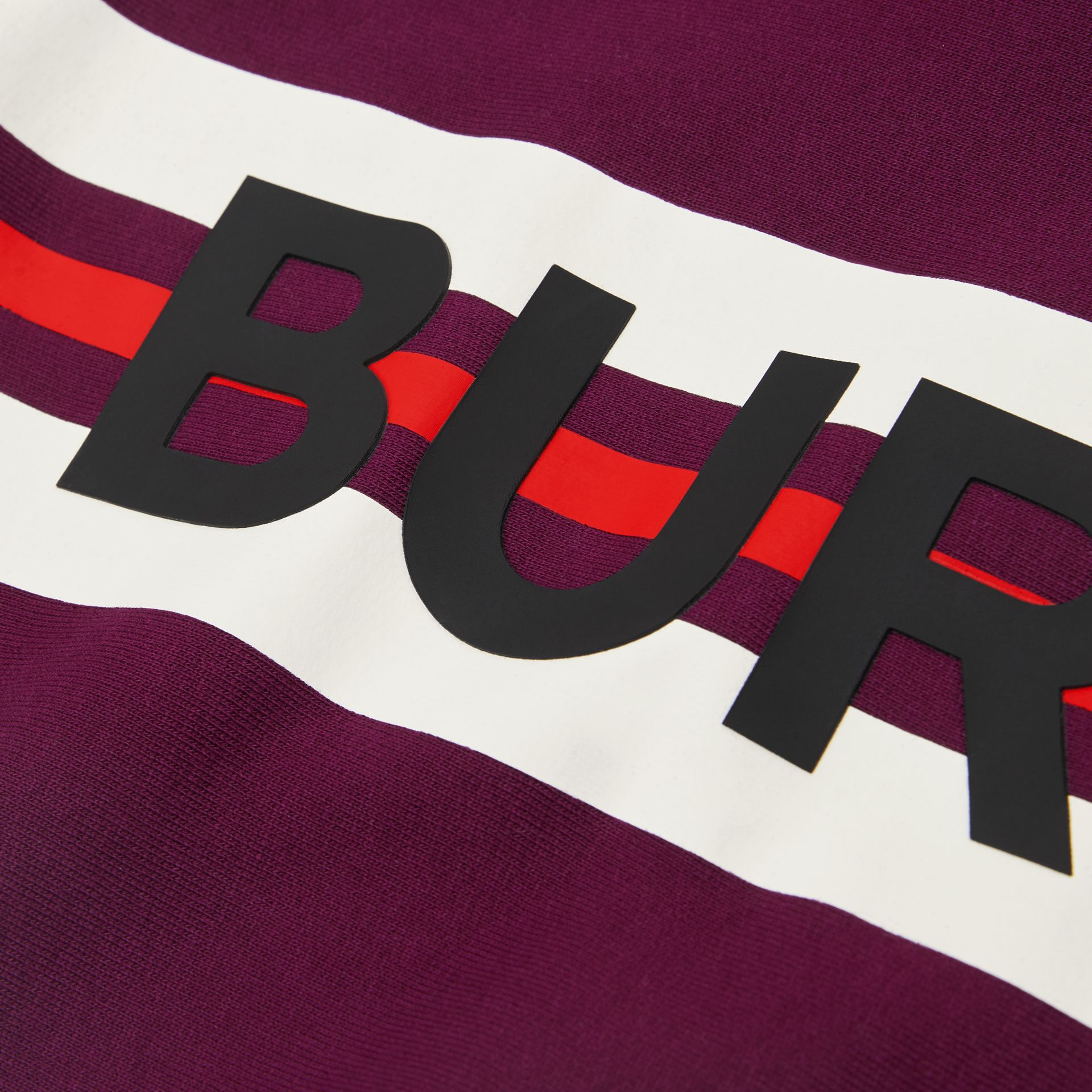 Logo Print Jersey Sweater Dress in Burgundy | Burberry - gallery image 1