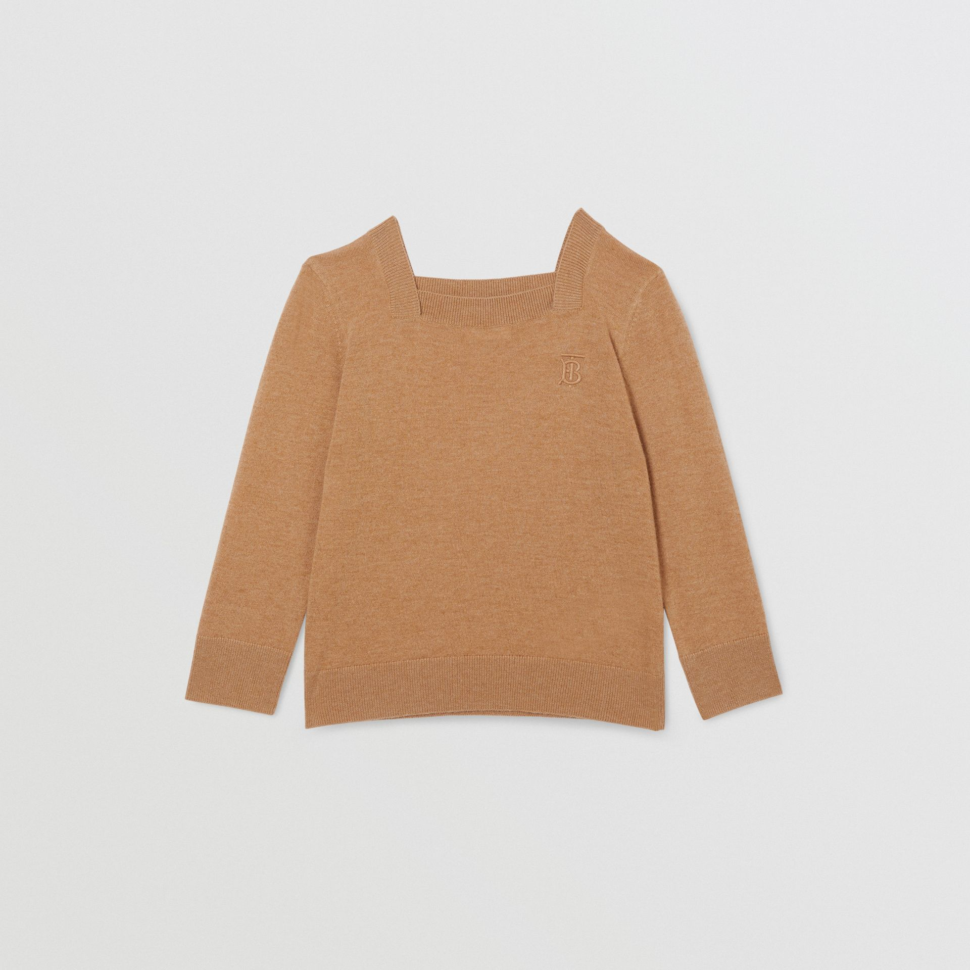 Monogram Motif Cashmere Sweater in Camel | Burberry - gallery image 0