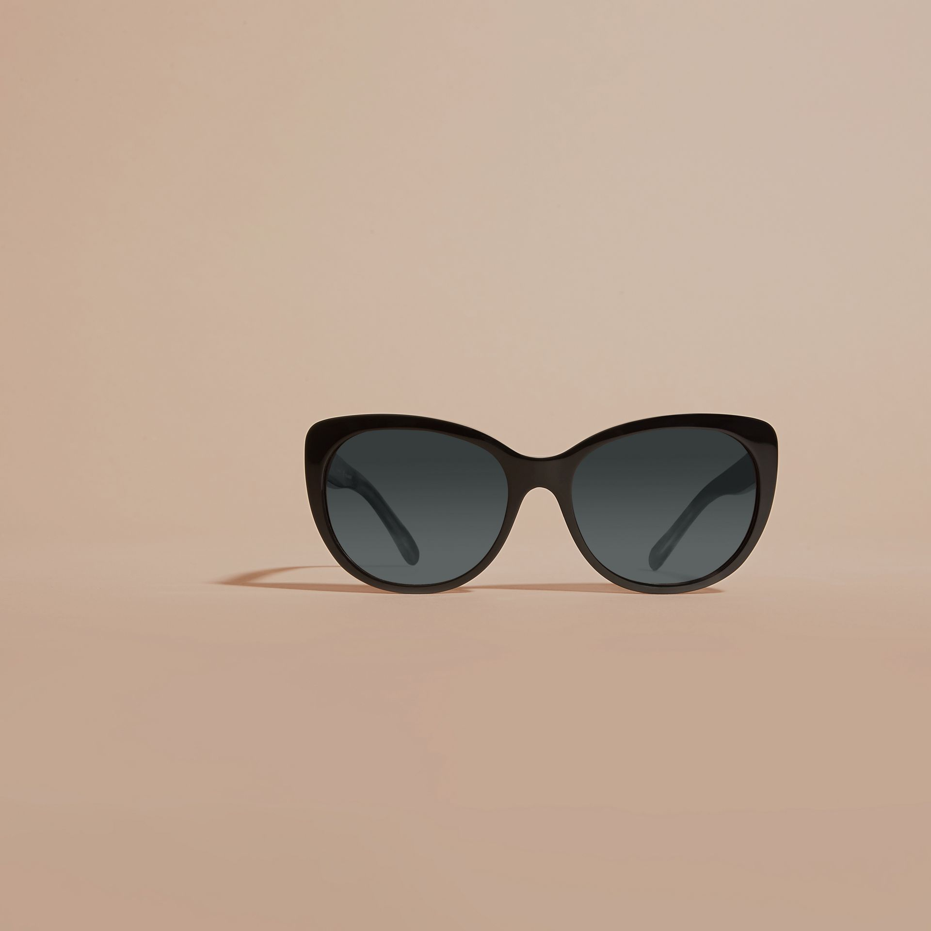 Black Gabardine Collection Oversize Round Frame Sunglasses - gallery image 3