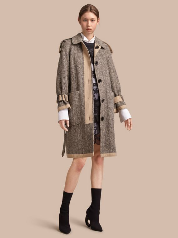 Reversible Donegal Tweed and Gabardine Trench Coat - Women | Burberry Australia