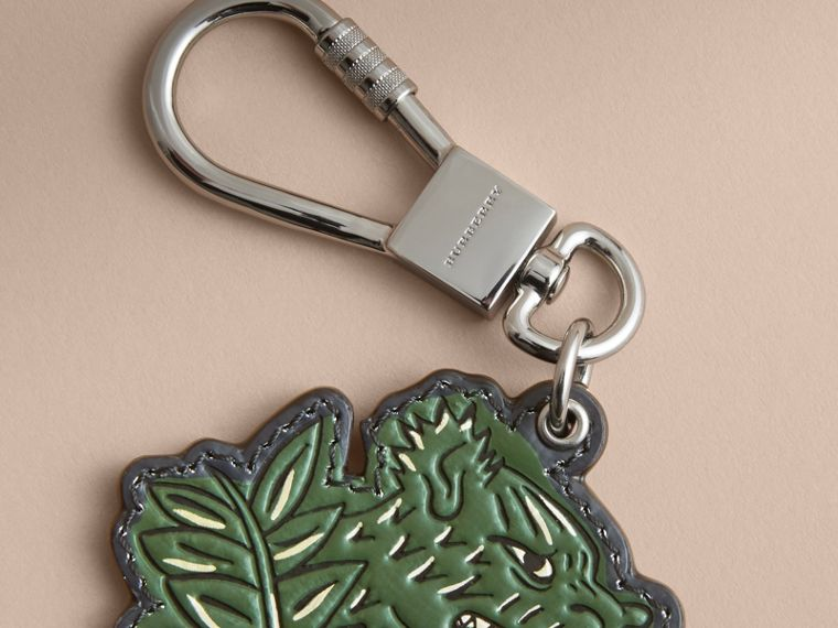 Beasts Leather Key Ring in Olive Green - cell image 1