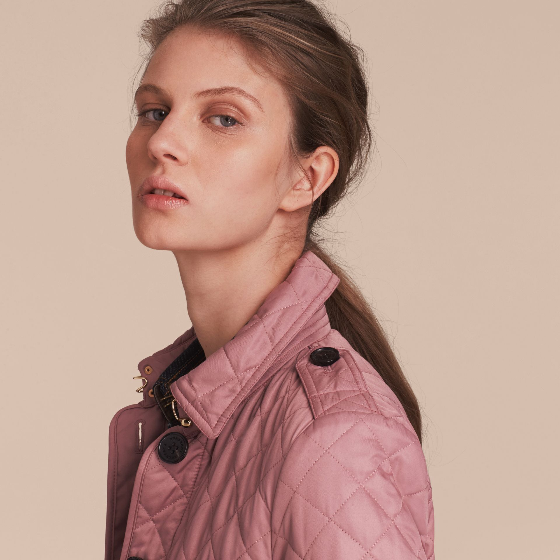 Diamond Quilted Jacket in Vintage Rose - gallery image 5