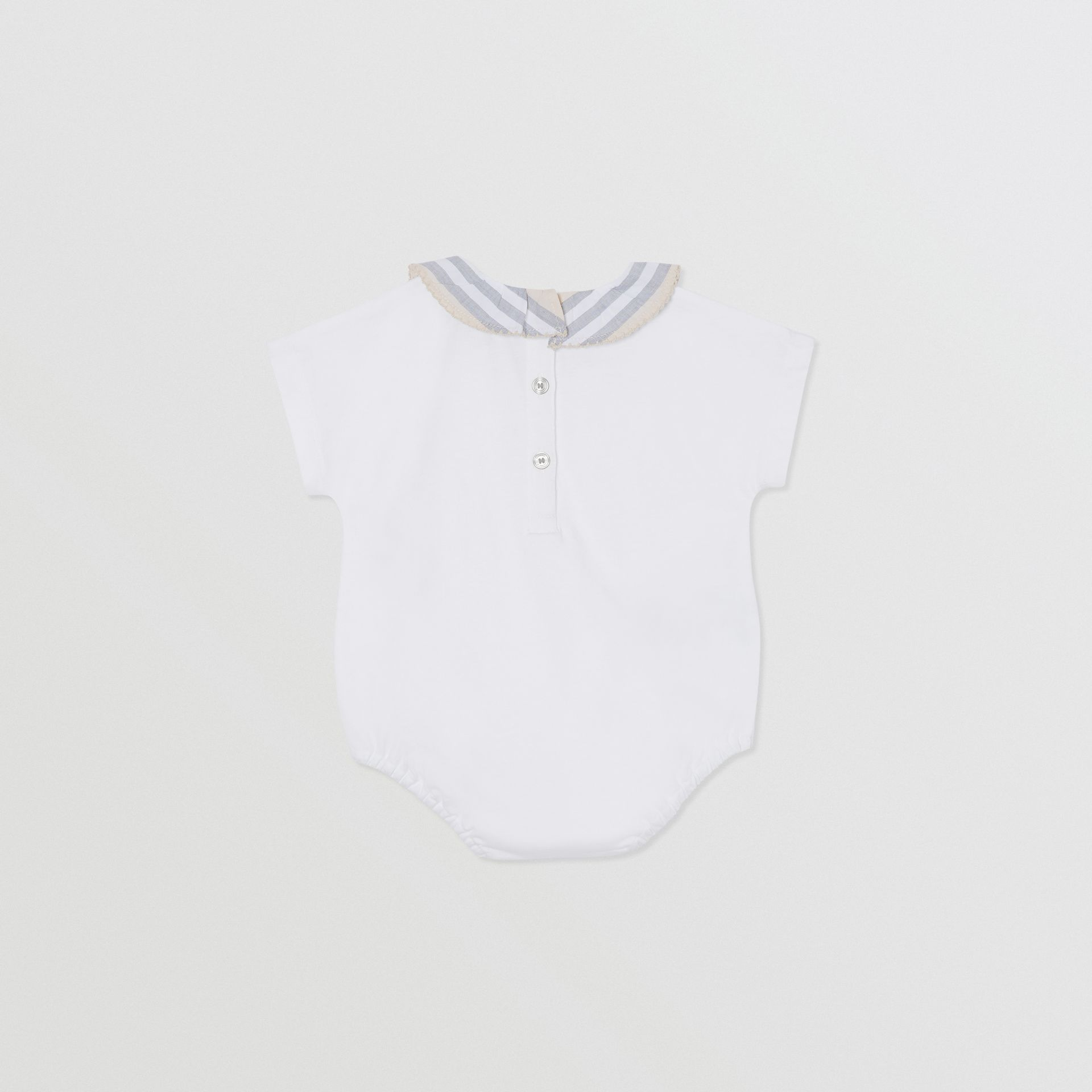 Icon Stripe Cotton Three-piece Baby Gift Set in Pale Stone - Children | Burberry - gallery image 7