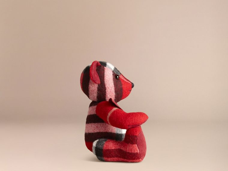 Thomas Bear in Check Cashmere in Parade Red | Burberry United States - cell image 2