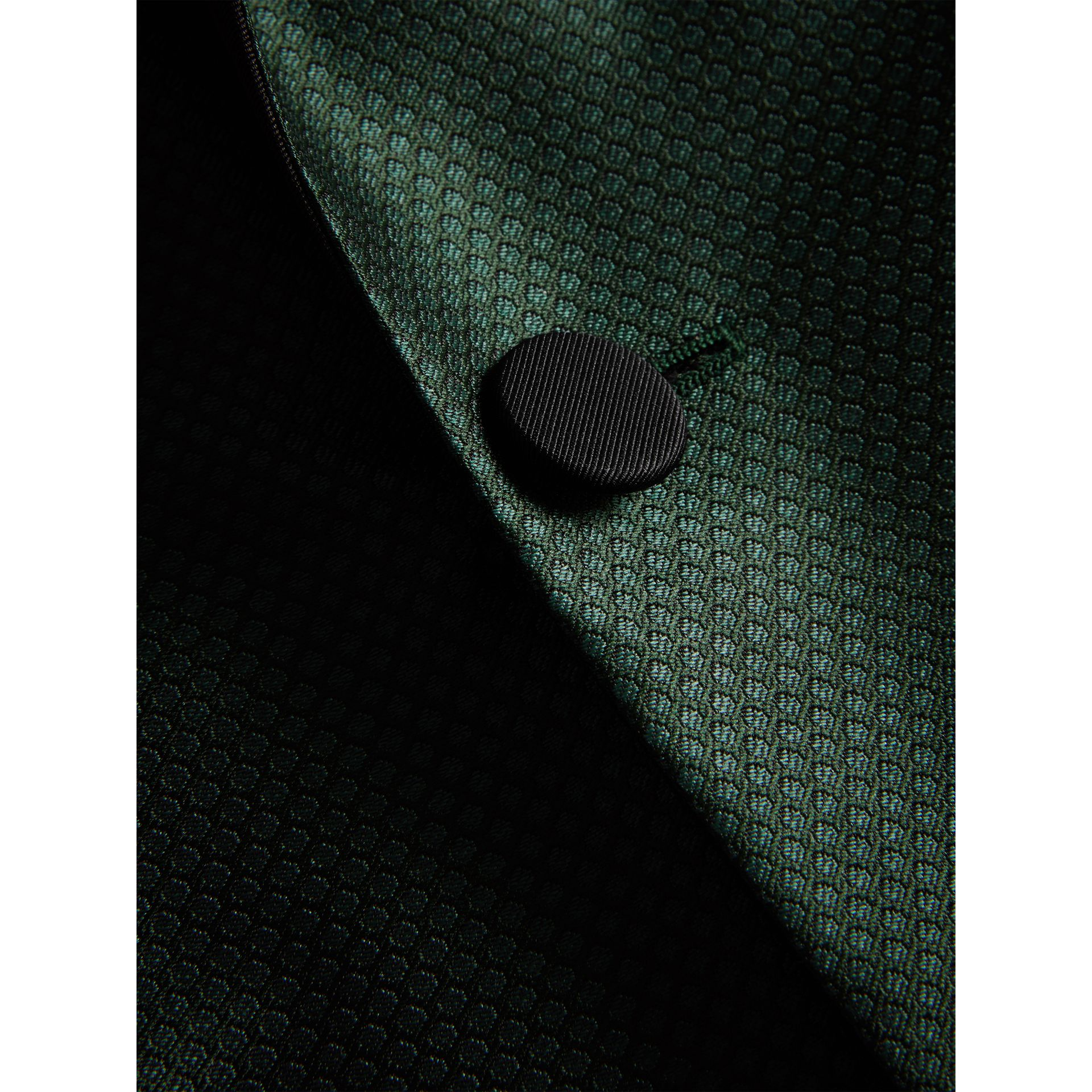 Soho Fit Jacquard Evening Jacket in Forest Green - Men | Burberry - gallery image 2