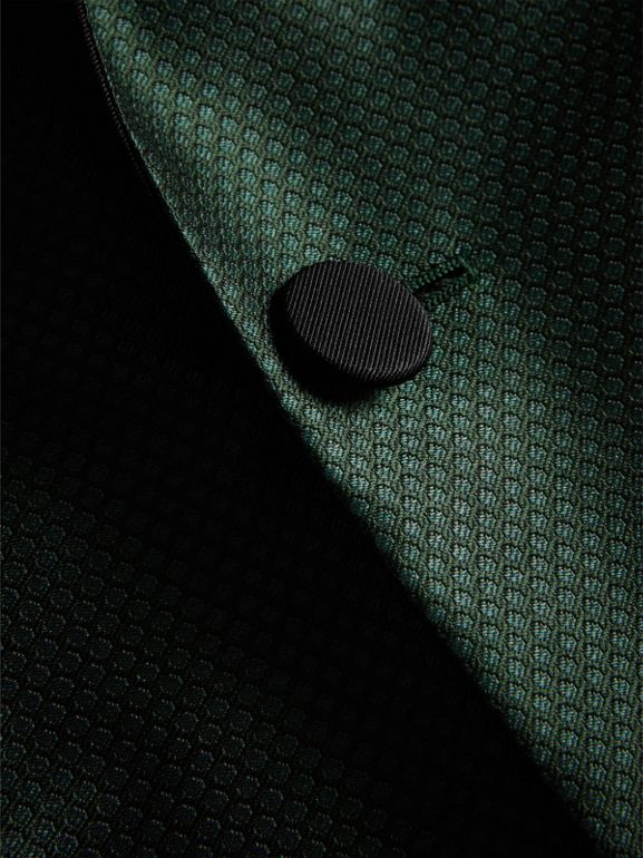 Soho Fit Jacquard Evening Jacket in Forest Green - Men | Burberry - cell image 1
