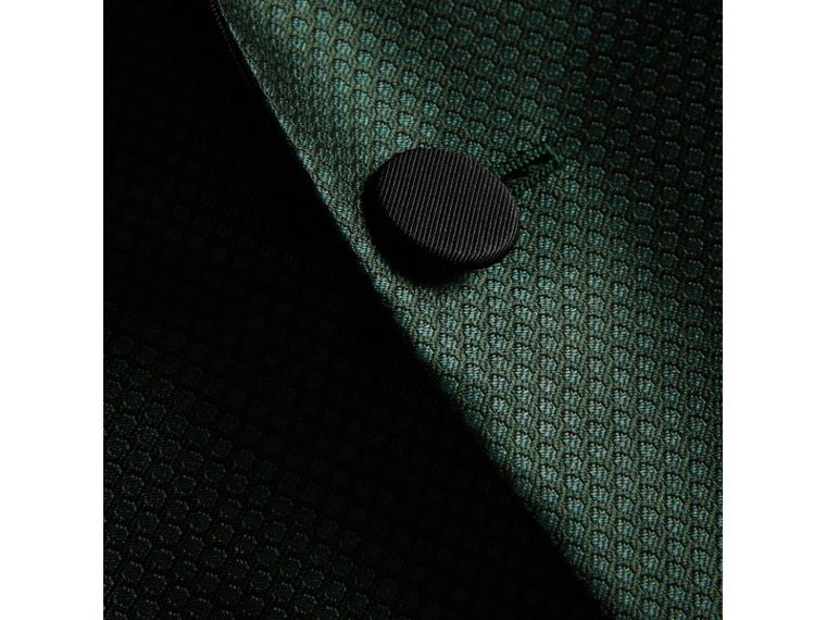Soho Fit Jacquard Evening Jacket in Forest Green - Men | Burberry United States - cell image 1