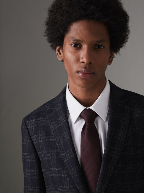 Classic Cut Check Silk Jacquard Tie in Deep Claret - Men | Burberry United States - cell image 2
