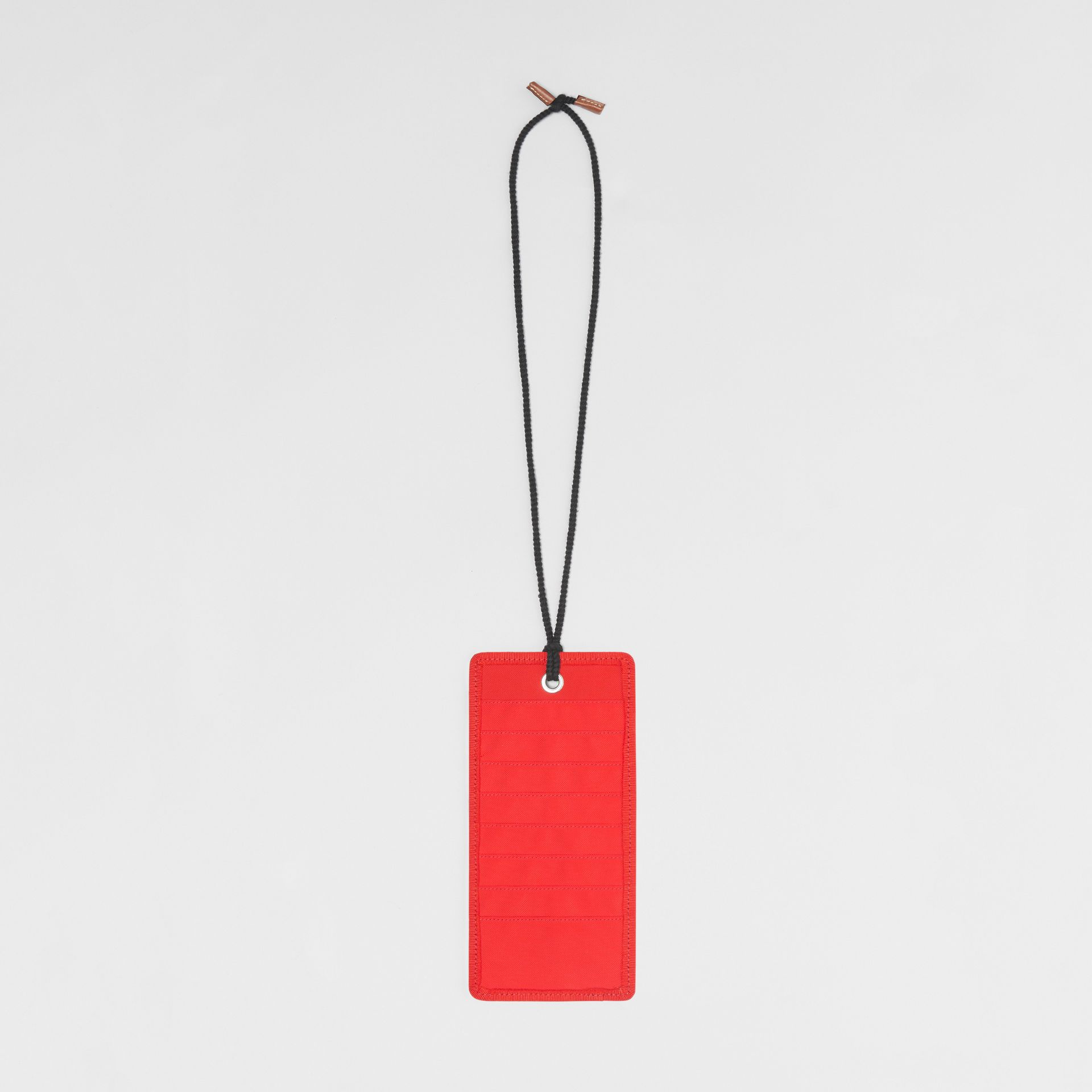Logo Print Card Case Lanyard in Bright Military Red | Burberry - gallery image 2