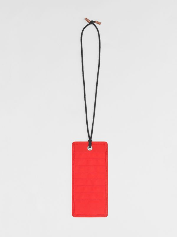 Logo Print Card Case Lanyard in Bright Military Red | Burberry - cell image 2