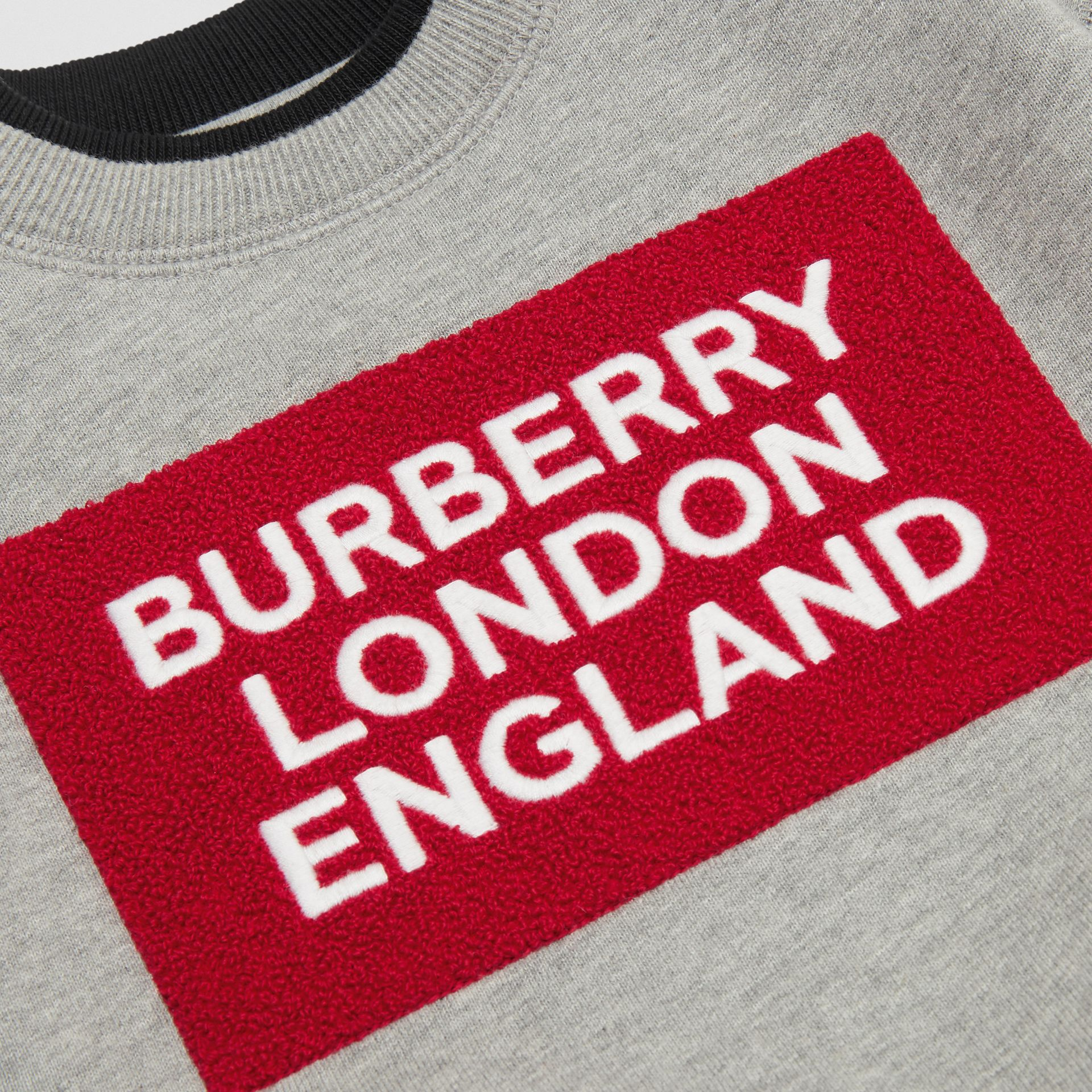 Logo Detail Jersey Sweatshirt in Grey Melange - Children | Burberry Australia - gallery image 1