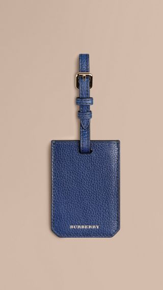 Grainy Leather Luggage Tag