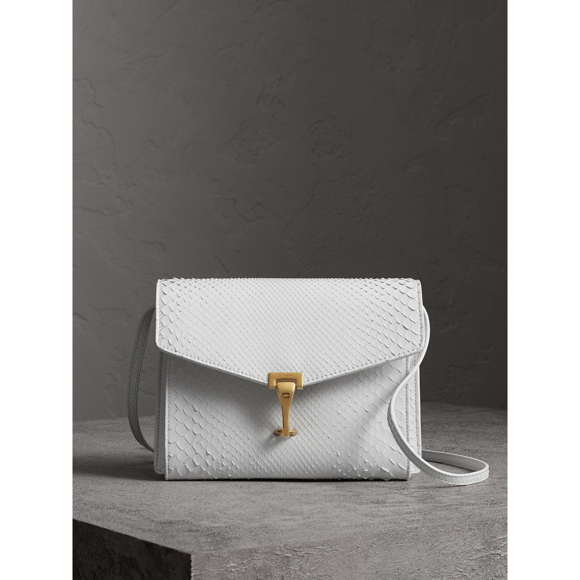 Small Python Crossbody Bag in Chalk White - Women | Burberry Canada - gallery image 0