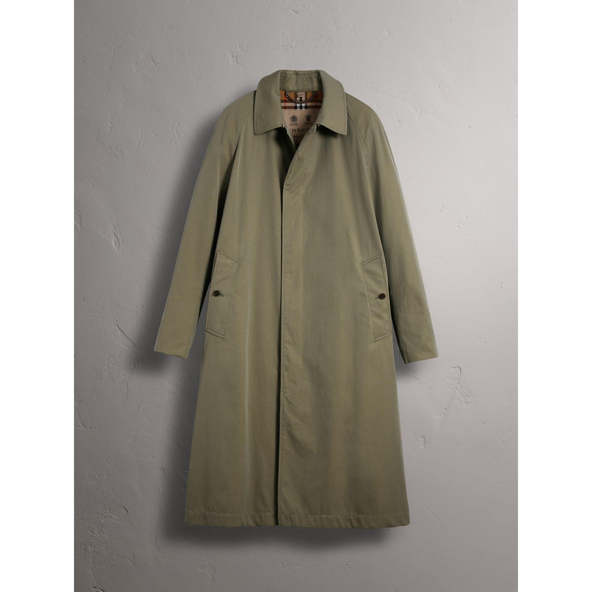 The Brighton – Longline Car Coat in Chalk Green - Men | Burberry - gallery image 4