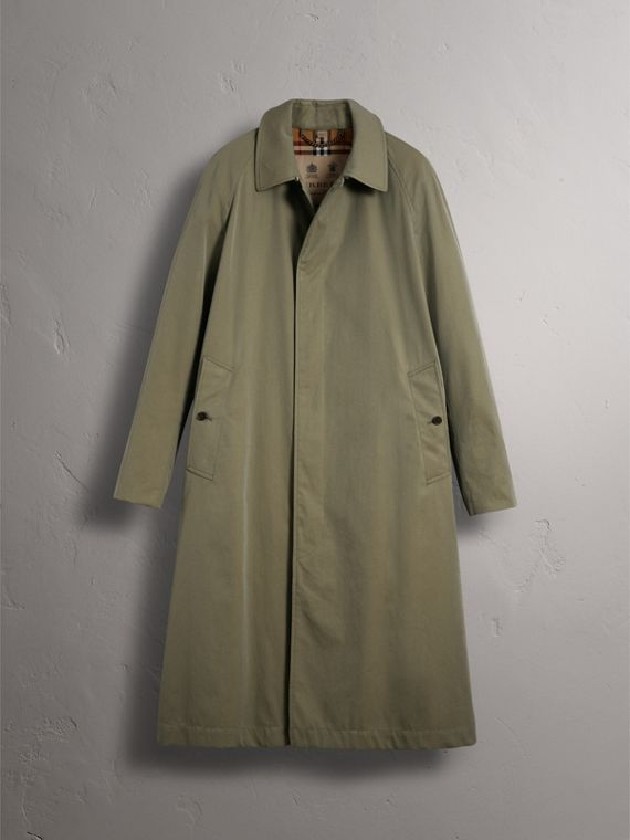 The Brighton – Longline Car Coat in Chalk Green - Men | Burberry - cell image 3