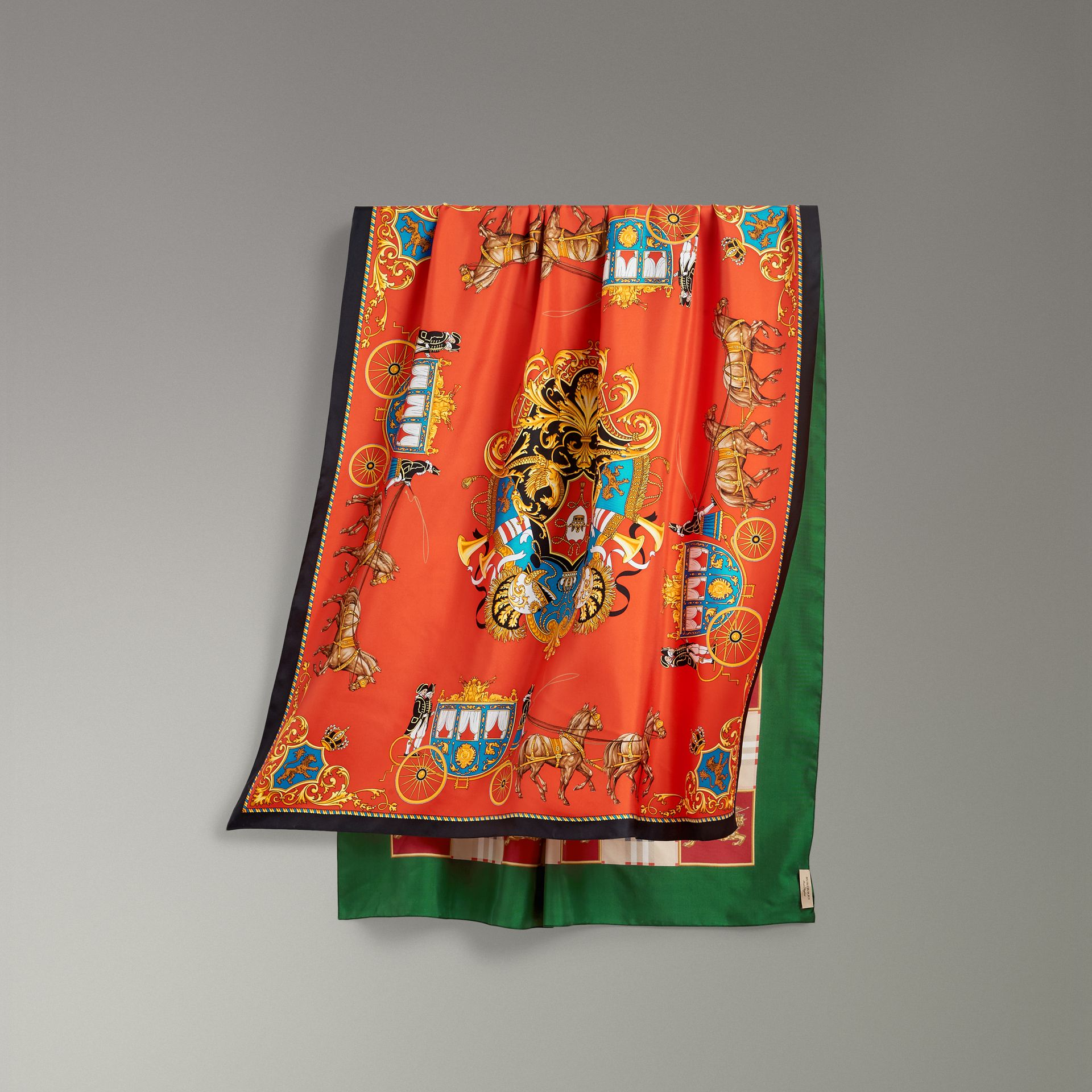 Archive Scarf Print Silk Oversized Scarf in Multicolour - Women | Burberry - gallery image 0