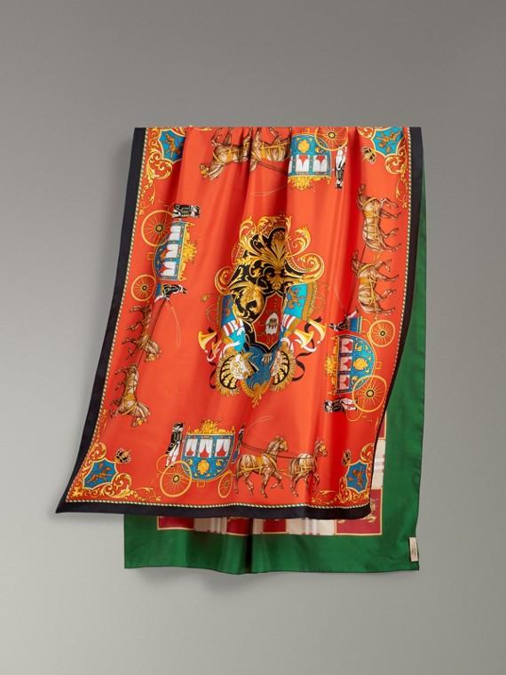 典藏圍巾印花絲綢圍巾 (多色)