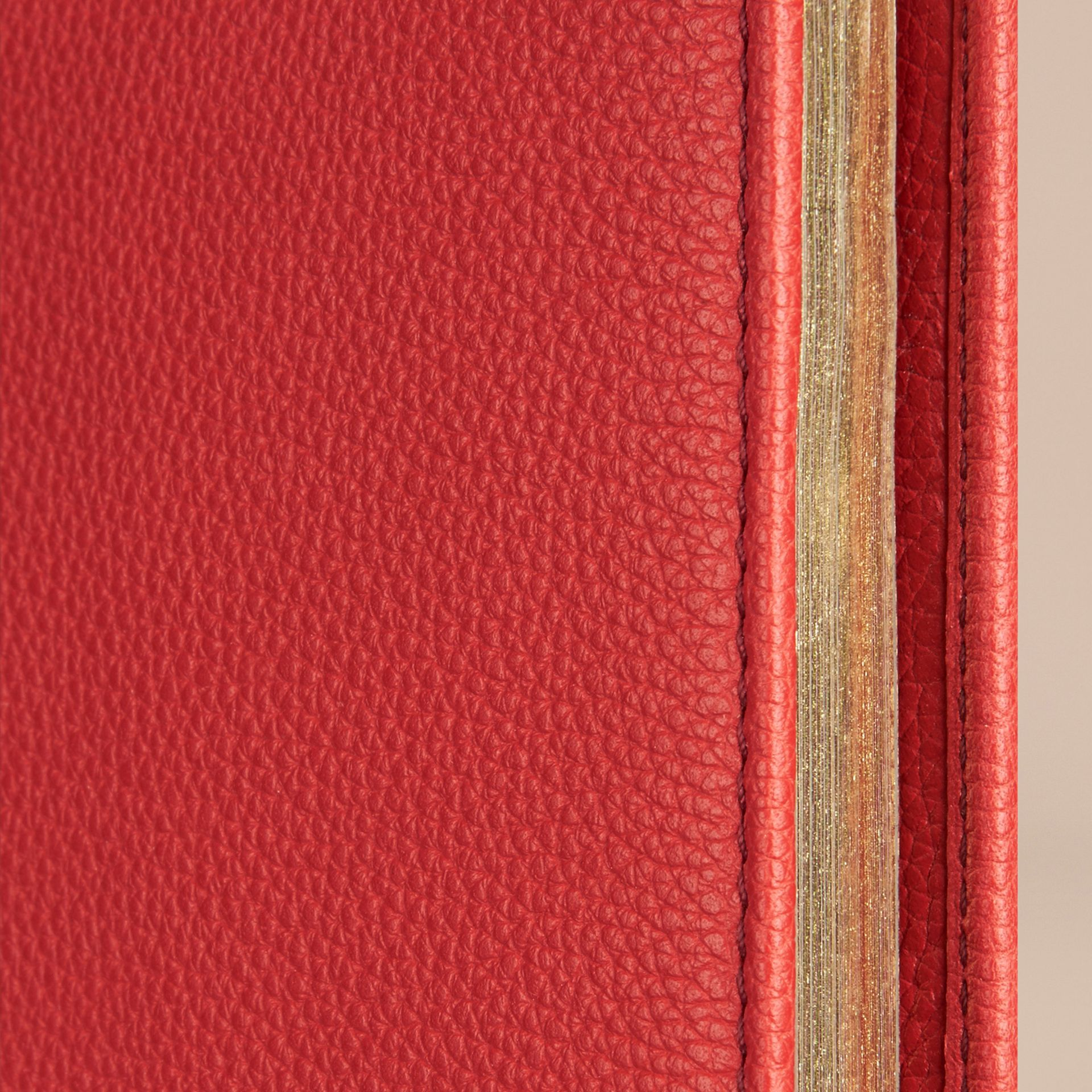 Grainy Leather A4 Notebook in Orange Red | Burberry - gallery image 2