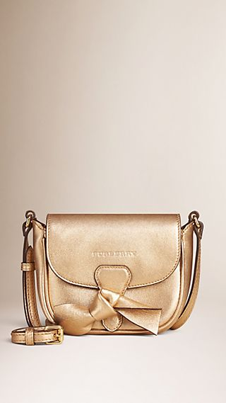 Embossed Twill Leather Crossbody Bag