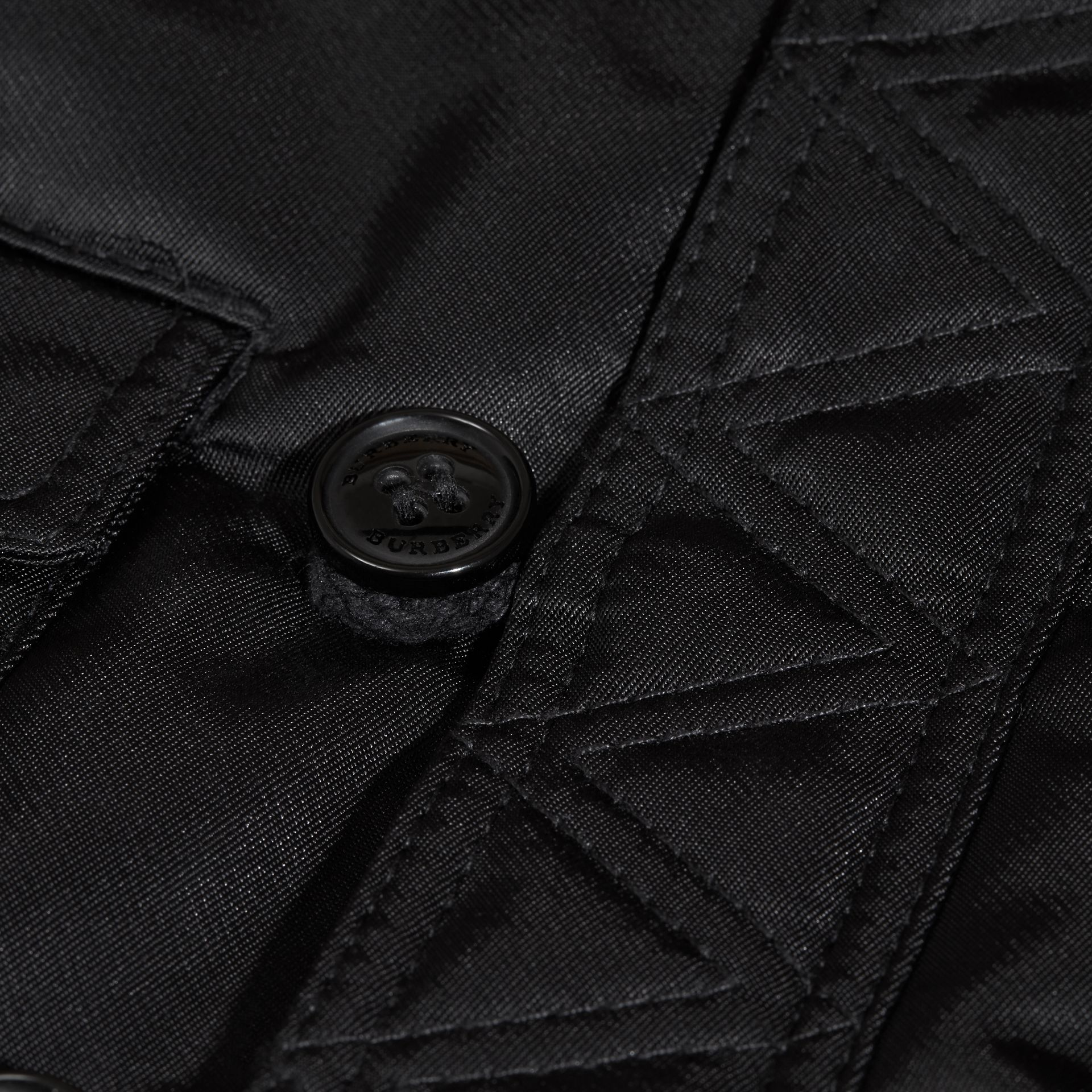 Black Hooded Technical Parka - gallery image 2