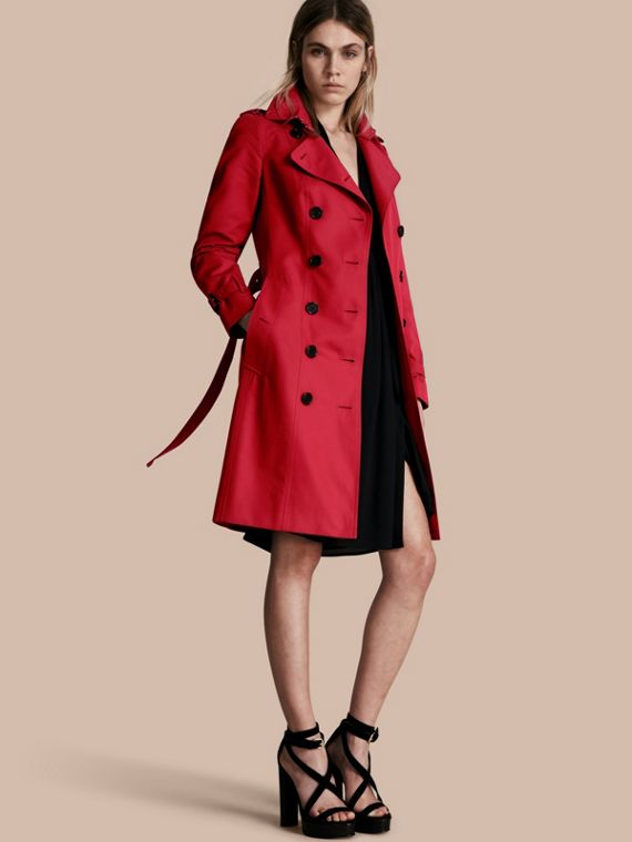Trench coat Sandringham - Trench coat Heritage largo Rojo Desfile