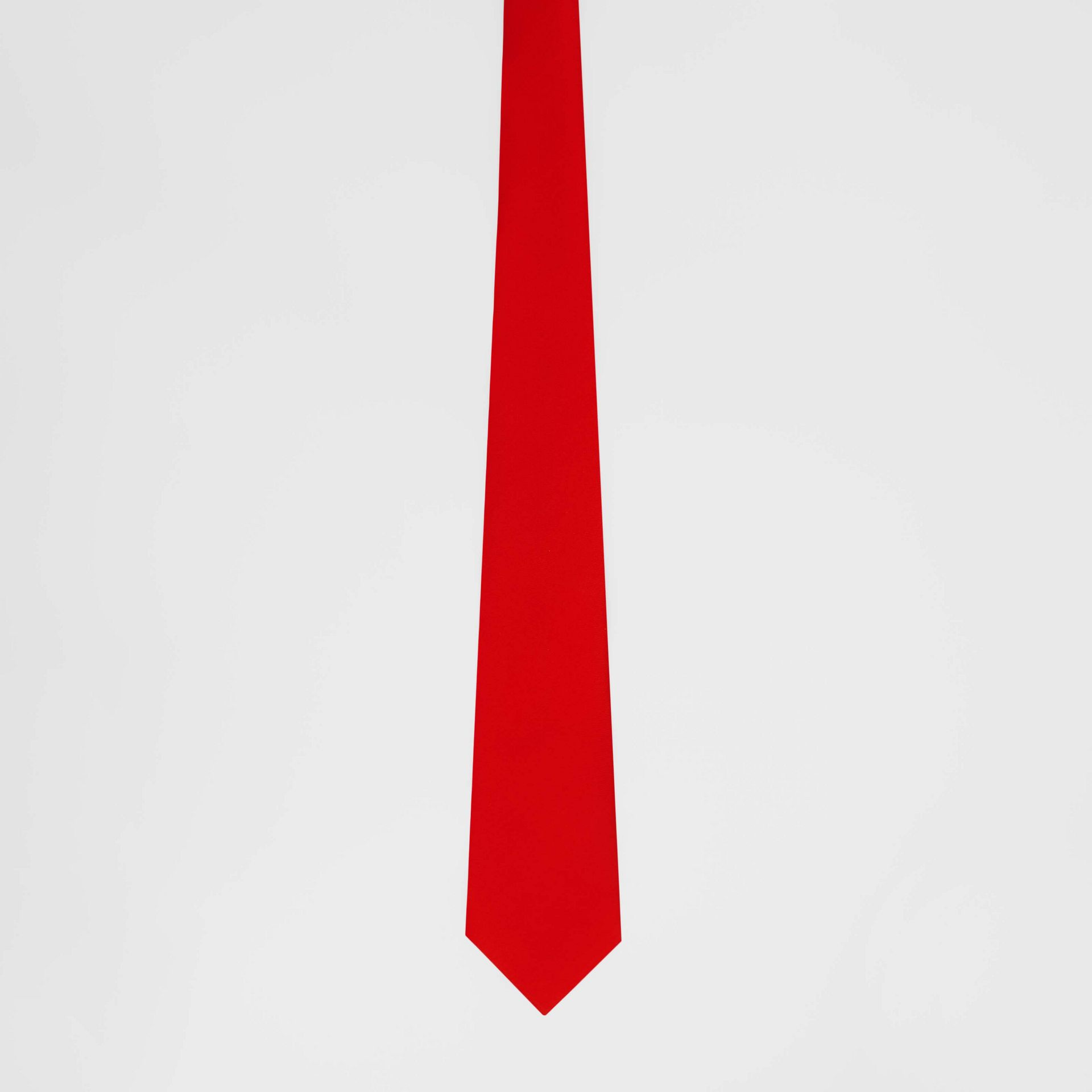 Classic Cut Silk Tie in Bright Red - Men | Burberry Australia - gallery image 3