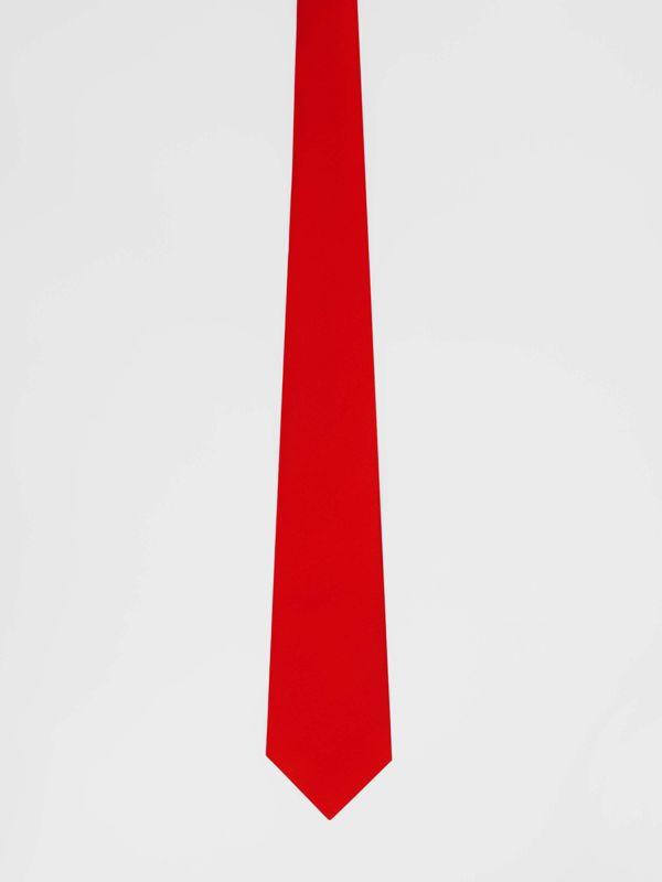 Classic Cut Silk Tie in Bright Red - Men | Burberry Singapore - cell image 3