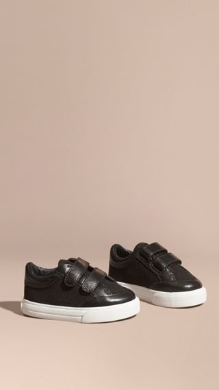 Leather and Canvas Trainers