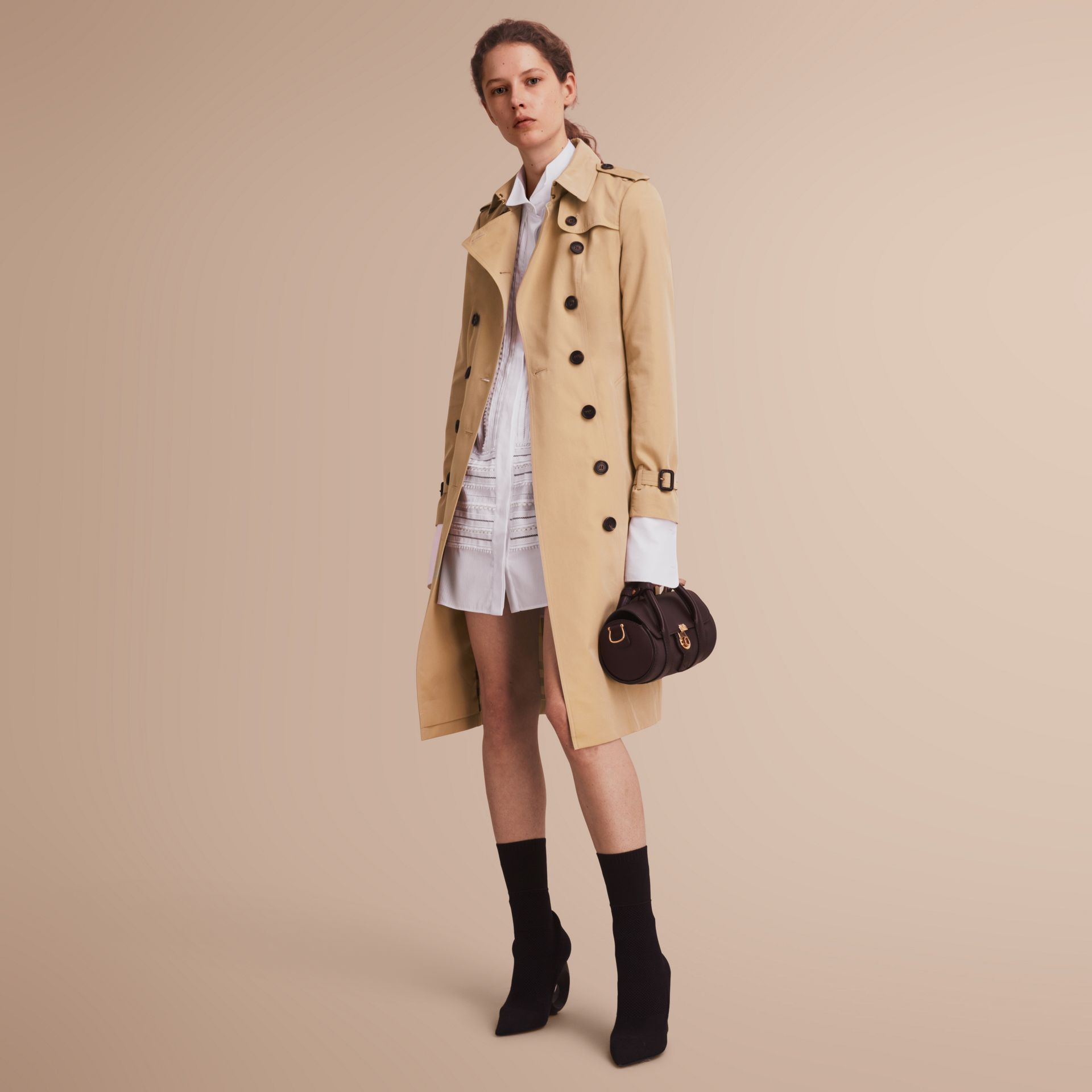 The Sandringham – Extra-long Heritage Trench Coat Honey - gallery image 1